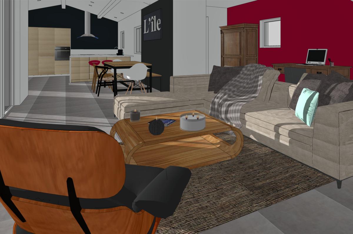 scenographie interieure architecture decoration 3D